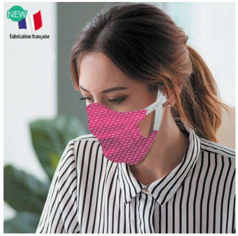 Masque Sam en tissu personnalisé, homologué, lavable + de 50 fois
