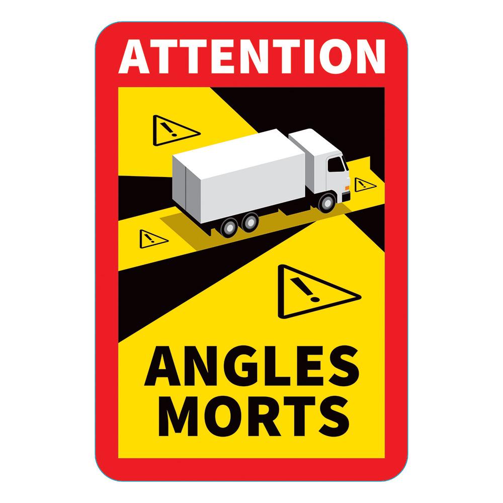 Autocollant angles morts poids lourds SOBELPU SPRL objet publicitaire personnalisable Belgique