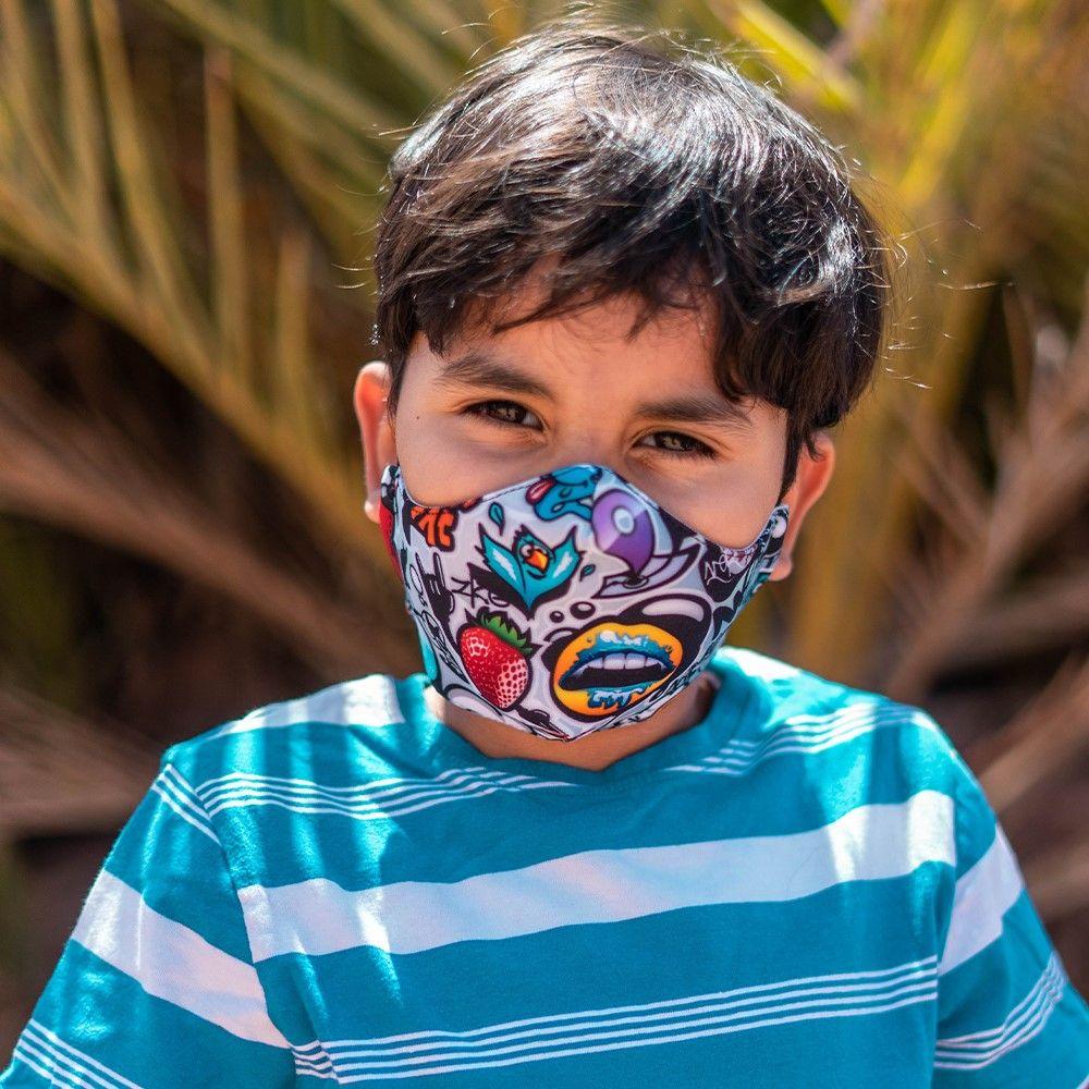 Masque enfant UNS1 personnalisé all over 20 lavages