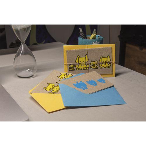Cartes postales réalisés à partir d'excréments d'éléphant - lot de 2