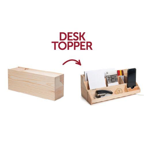 Rackpack Desktopper– coffret cadeau à vin ET organiseur de bureau en un produit !