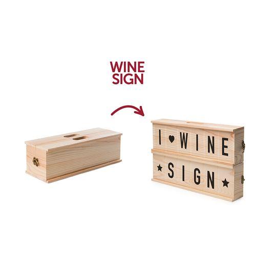 Rackpack WineSign – coffret cadeau à vin ET boîte à caractères en un produit !