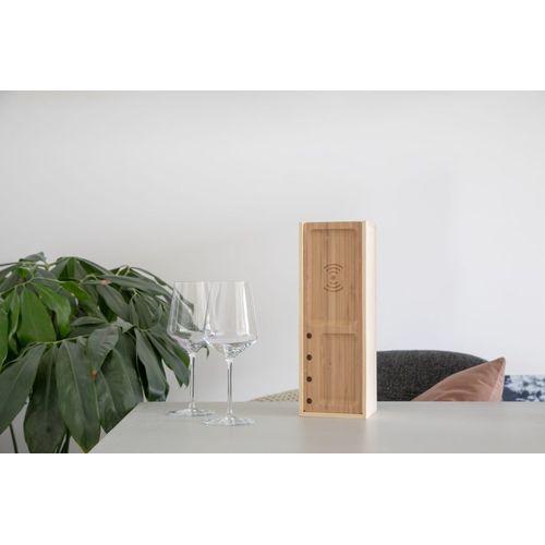 Rackpack Juicebox- coffret cadeau à vin et station de charge sans fil pour téléphone mobile en un seul produit !