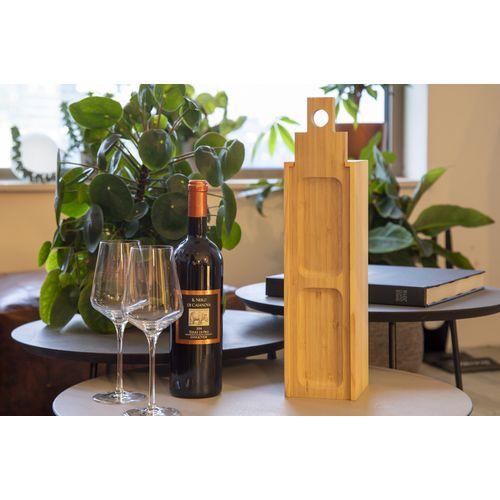 Coffret à vin et plateau en un seul petit modèle