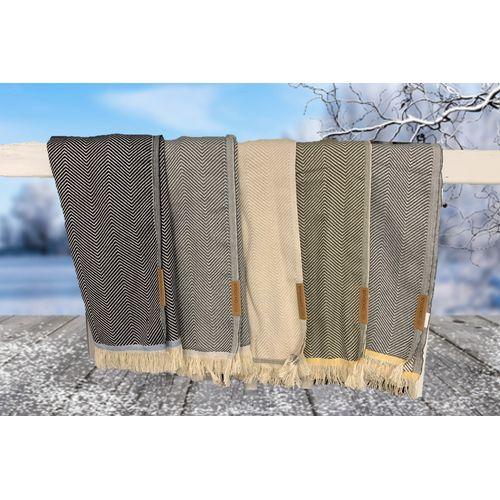 Bright est une écharpe douce, intemporelle et élégante avec un motif à chevrons classique