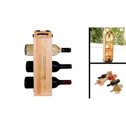 Coffret cadeau à vin ET rack de rangement en un produit