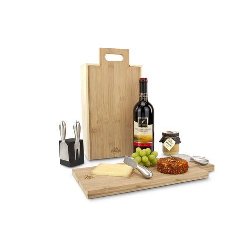 Rackpack SayCheese: coffret cadeau à vin ET plateau à fromage en un produit !