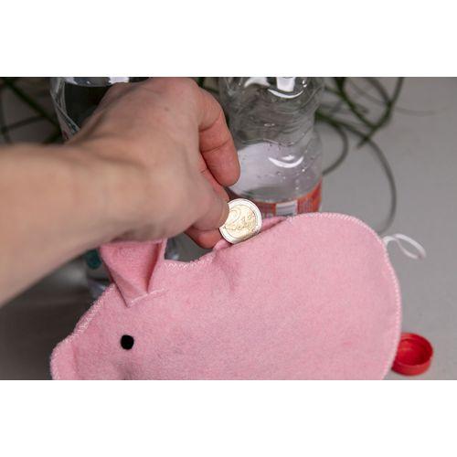 Tirelire (feutre) en bouteilles PET recyclées