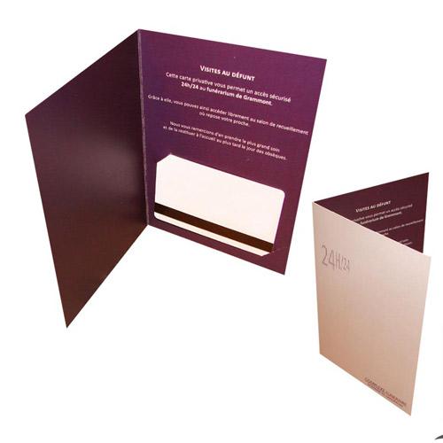 Porte-carte d'accés chambre funéraire