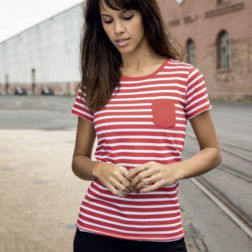 Tee-shirt raye femme