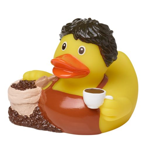 Squeaky duck, coffee