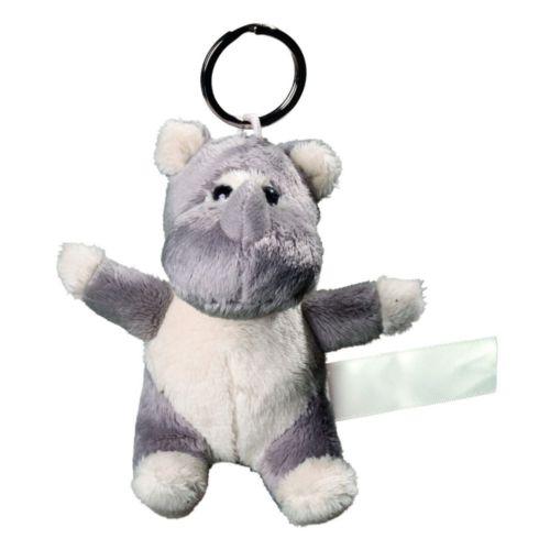 Rhino de peluche avec porte-clé