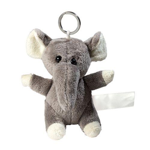 éléphant de peluche avec porte-clé