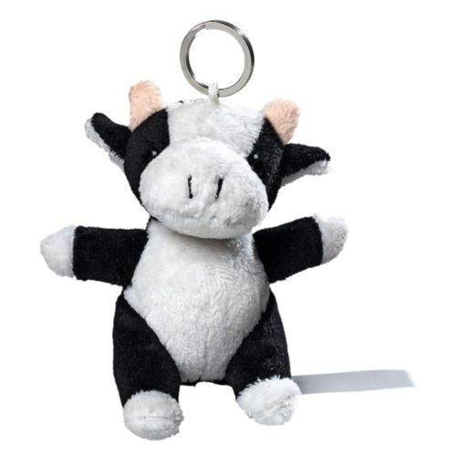 Vache de peluche avec porte-cle