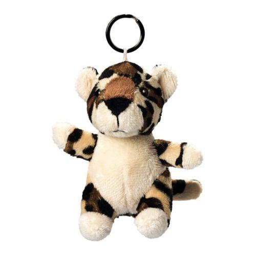 Léopard de peluche avec porte-clé