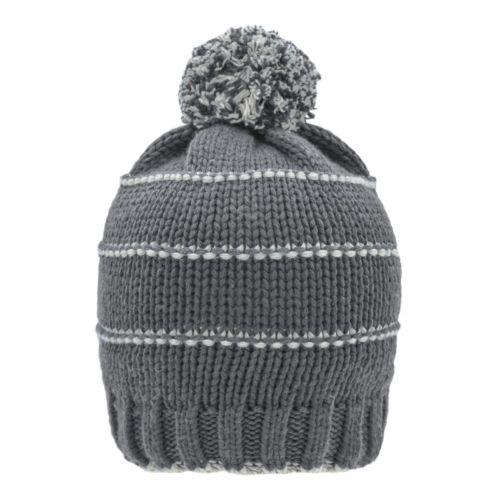 Bonnet d'hiver tricote avec pompon