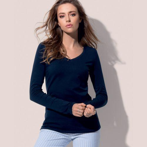 T-Shirt Claire manches longues  V femme