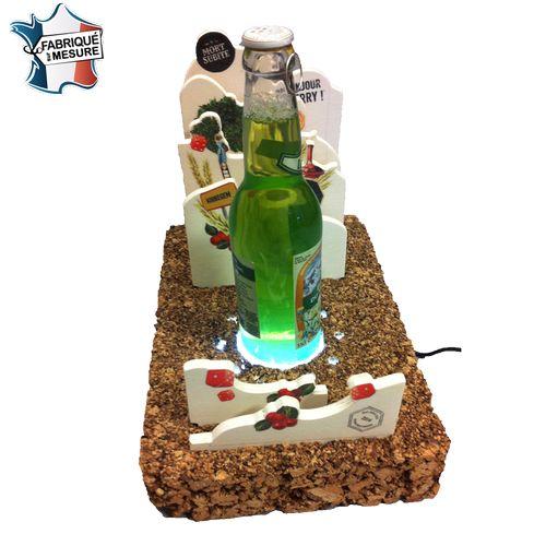Porte bouteilles lumineux