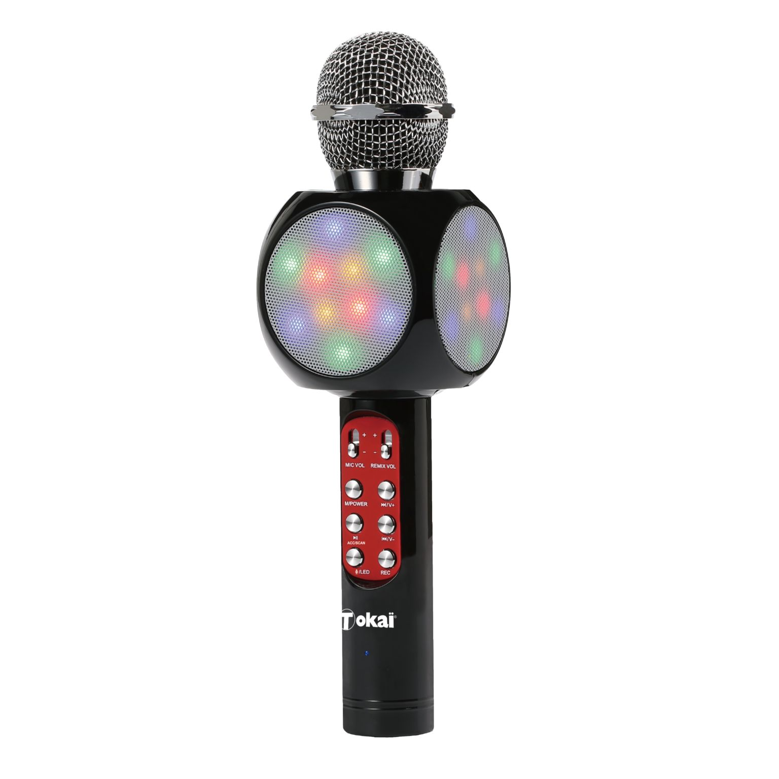 Micro enceinte karaoké avec lumières LED