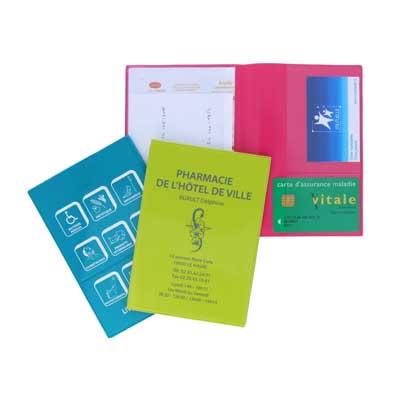 Garde ordonnance portefeuille - 1 carte santé