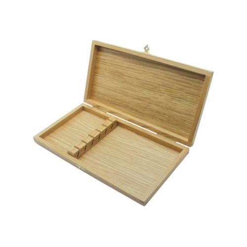 Coffret en chêne verni pour 6 couteaux de table