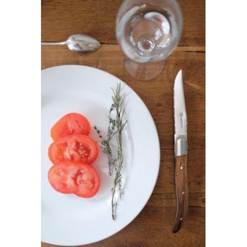Set de 6 couteaux de table Laguiole, frêne