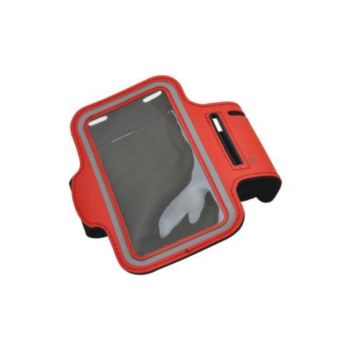 Brassard de sport pour smartphones 'Trail', rouge, Objet personnalisable, comité social économique
