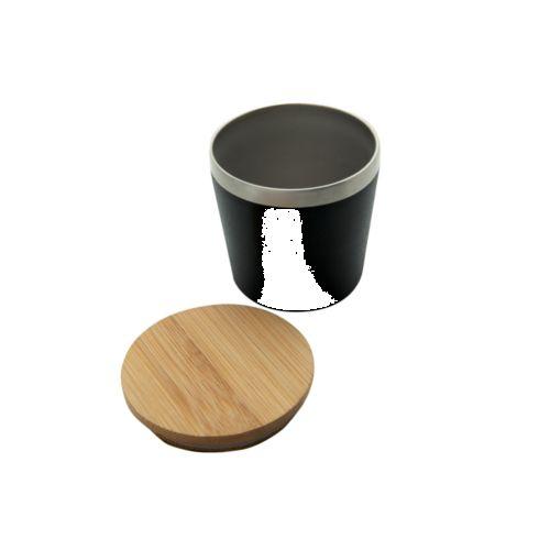 Mug isotherme 'Nagano' avec couvercle en bambou (M)