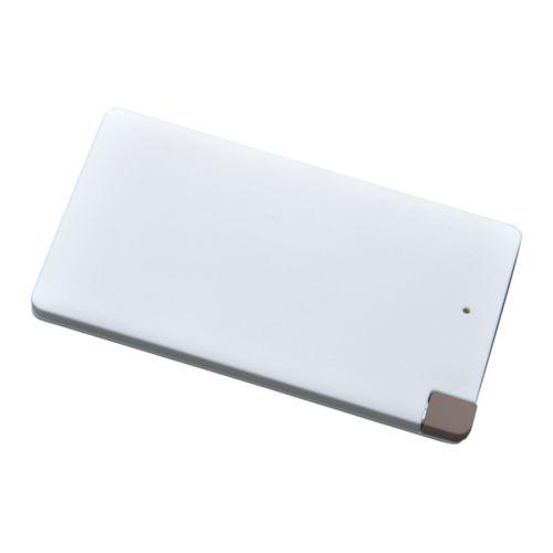 Chargeur nomade P4000, blanc, câble intégré, Objet personnalisable, comité social économique