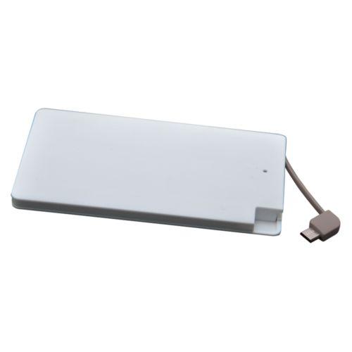 Chargeur nomade P4000, blanc, câble intégré
