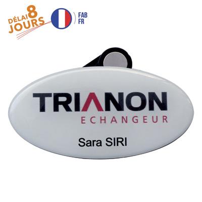 Badge Aimant Nominatif 8 Jours  personnalisé montpellier Paris Ile de France