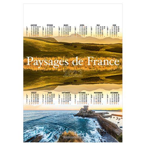 POSTER PAYSAGES DE FRANCE 2022 500 x 700 mm