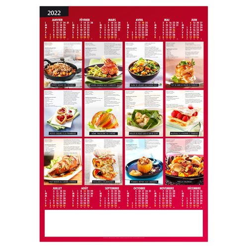 POSTER RECETTES GOURMANDES 2022 500 x 700 mm