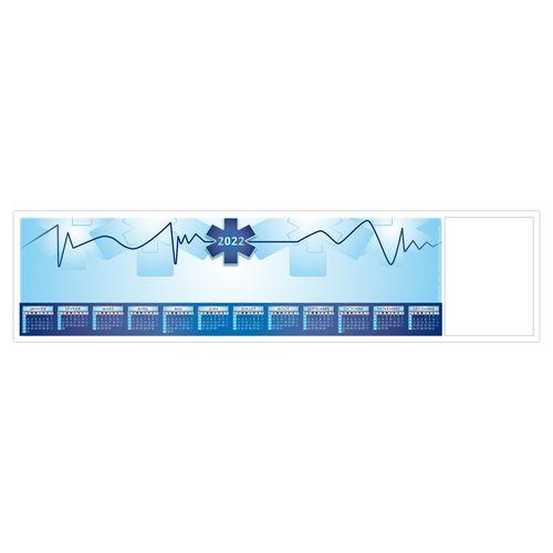 SOUS-MAIN CLAVIER SMC CROIX BLEUE 2022 445 x 110 mm 25 feuillets Avec grille