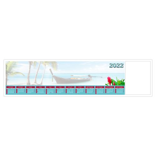 SOUS-MAIN CLAVIER SMC OCÉAN INDIEN 2022 445 x 110 mm 25 feuillets Avec grille