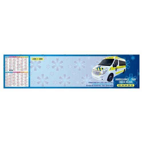 SOUS-MAIN CLAVIER SMC URGENCE 2022 445 x 110 mm 25 feuillets Avec grille