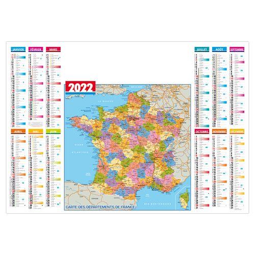 SOUS-MAIN PLASTIFIÉ DEPARTEMENTS 2022 600 x 420 mm