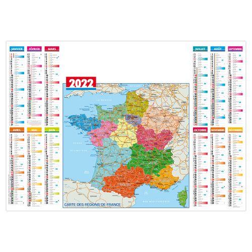 SOUS-MAIN PLASTIFIÉ RÉGIONS 2022 600 x 420 mm