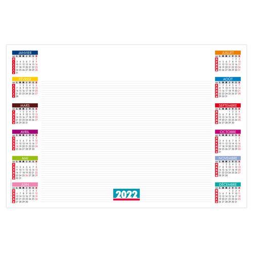 SOUS-MAIN SM BUREAU 2022 600 x 420 mm 25 feuillets Avec grille