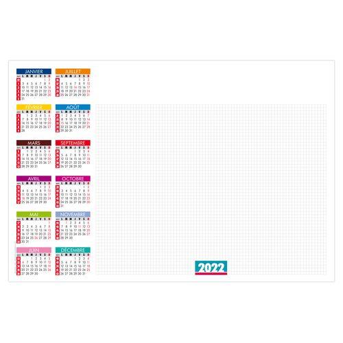 SOUS-MAIN SM ÉCRITURE 2022 600 x 420 mm 25 feuillets Avec grille par 2G Publicité