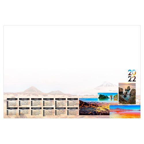 SOUS-MAIN SM MONDE 2022 600 x 420 mm 25 feuillets Avec grille