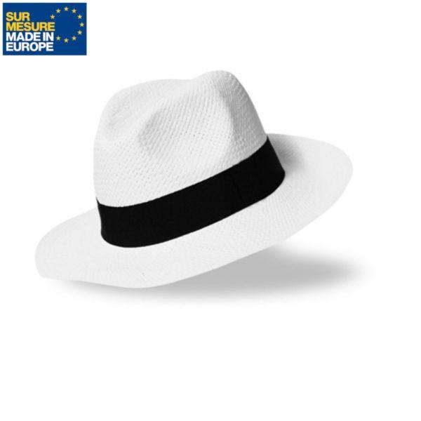 Chapeau en papier blanc BORSALINO