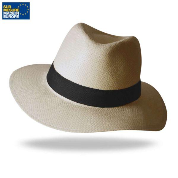 Chapeau en papier écru BORSALINO
