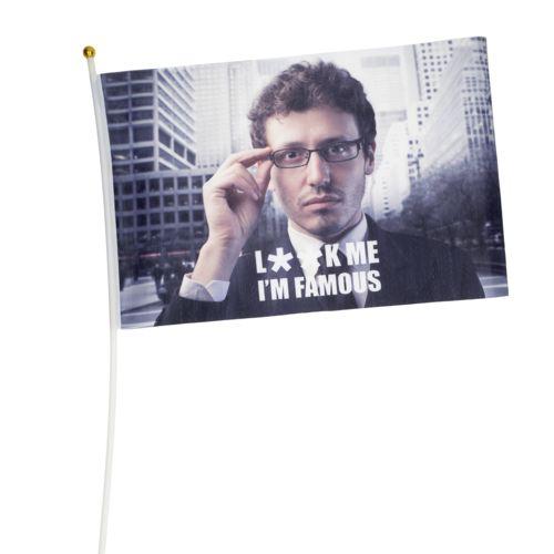 DRAPEAU EN RPET (45x30cm)  personnalisé montpellier Paris Ile de France
