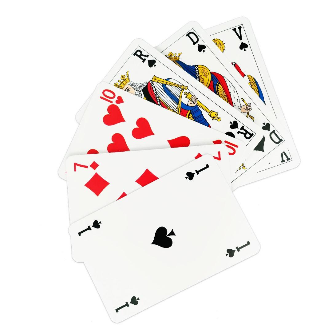 Jeu de belote - 33 cartes - carton 290 g