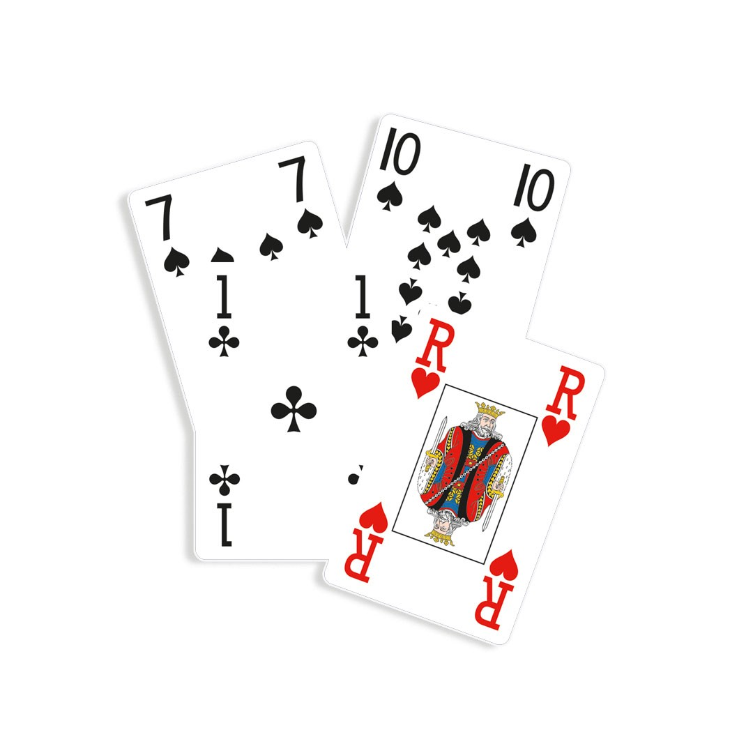 Jeu de belote gros points - 33 cartes