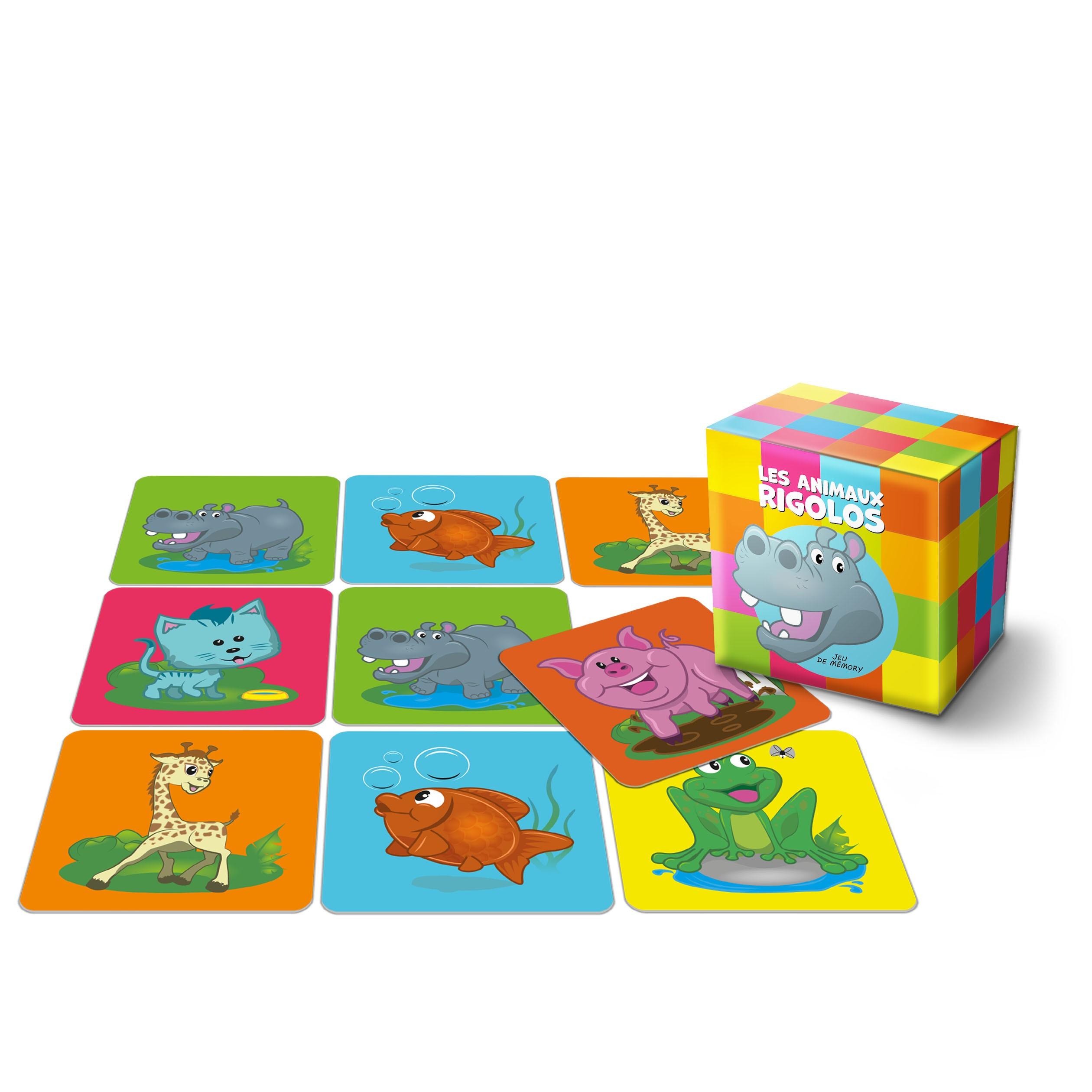 """Jeu de mémo - 22 cartes Jeu de mémo - 22 cartes - """"Les animaux rigolos"""""""