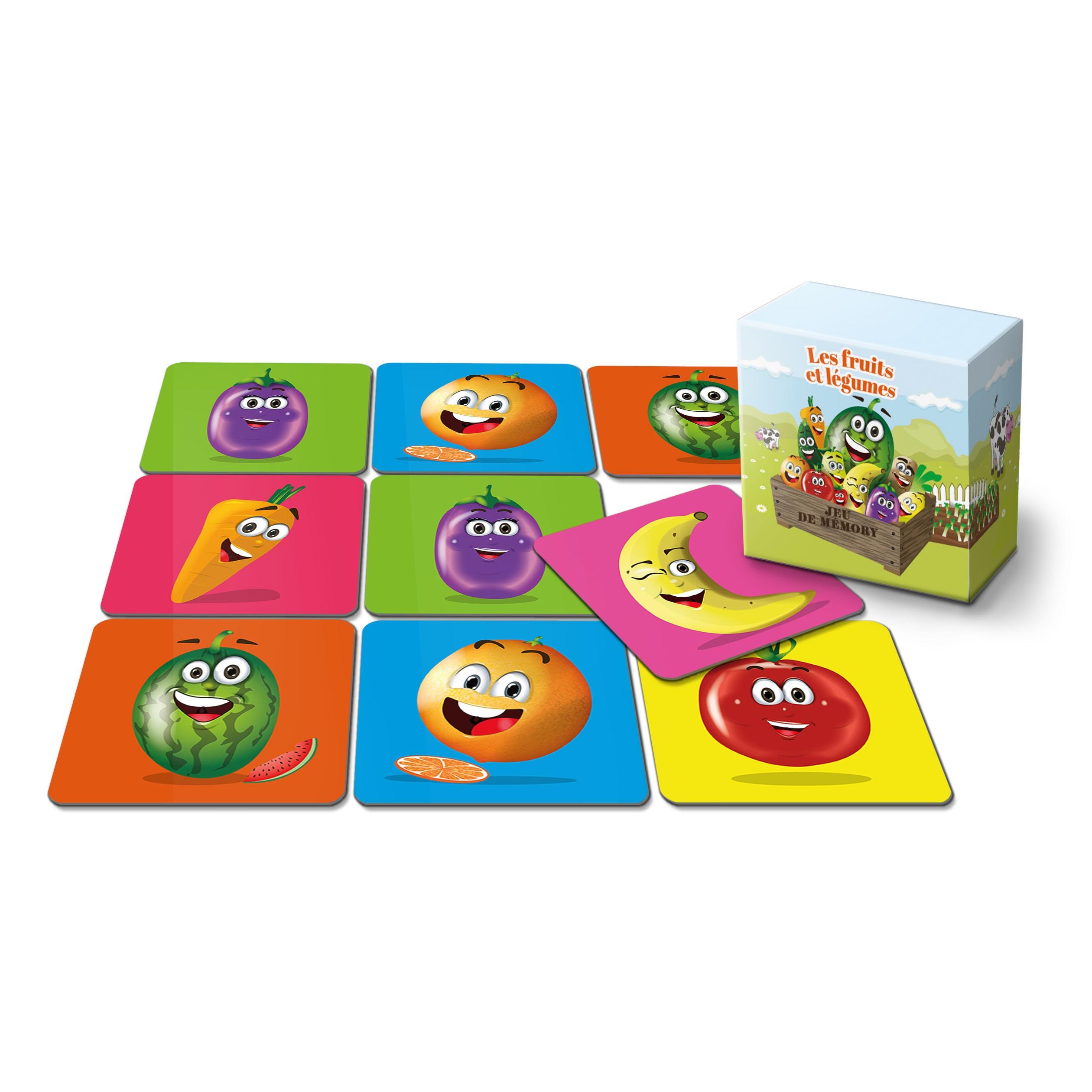 """Jeu de mémo - 22 cartes - """"Les fruits et légumes"""""""
