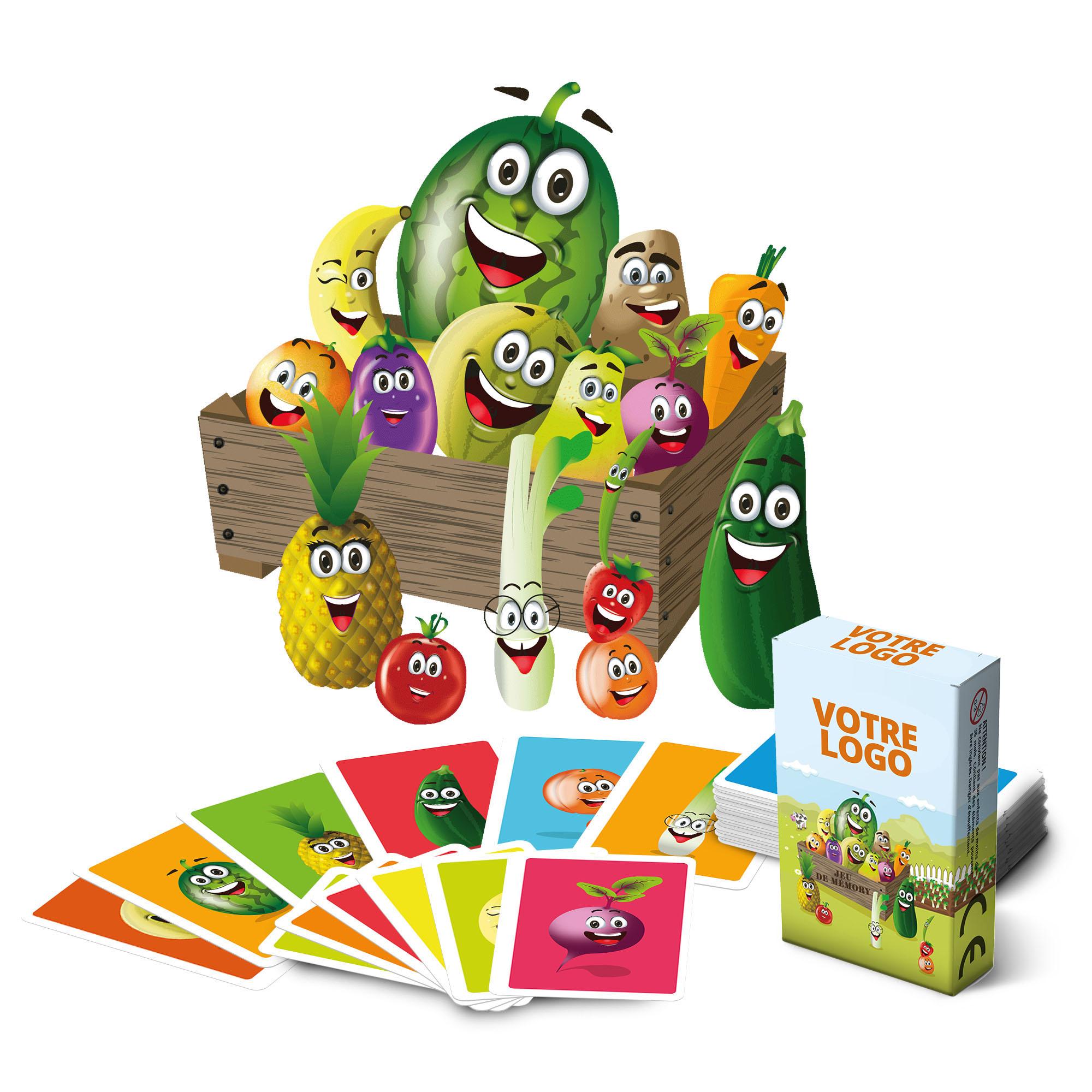 """Jeu de mémo thème """"Fruits et légumes"""" - 44 cartes"""