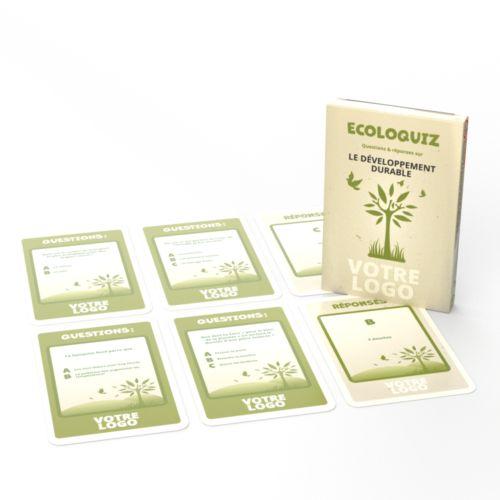 """Jeu """"Ecoloquiz"""" - 44 cartes sur l'écologie"""